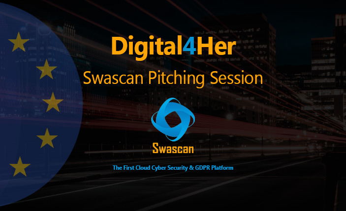 Swascan on the stage of the #Digital4Her event