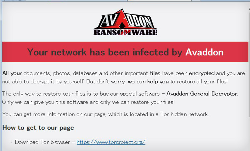 Avaddon Ransomware Swascan
