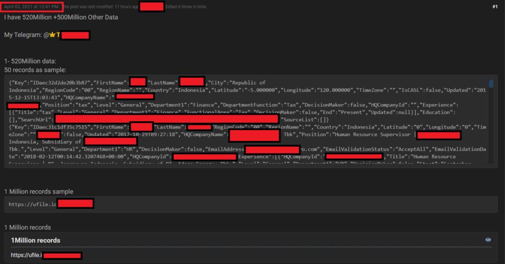 Linkedin data scraper